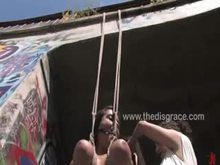 black Yasmin gets strung up by her melons