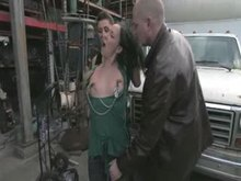 Julie Night - Fisted and poked in the Junkyard