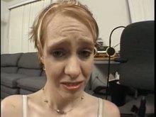 Shy worthless toilet girl