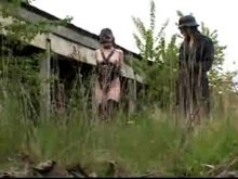 German Ponygirl Training and Humiliation Outdoors