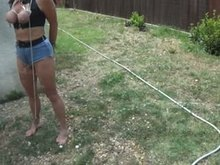French Real-life Slave outdoors