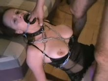 Slave throat plowed through Ring Gag