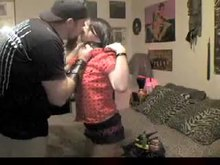 Amateur Goth woman Dominated and screwed