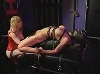 Couple and Subgirl Machine Fucked and Bound
