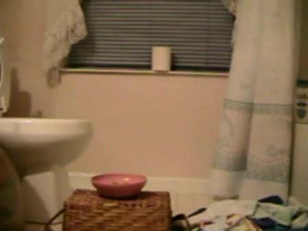 Petgirl's piss training in toilet