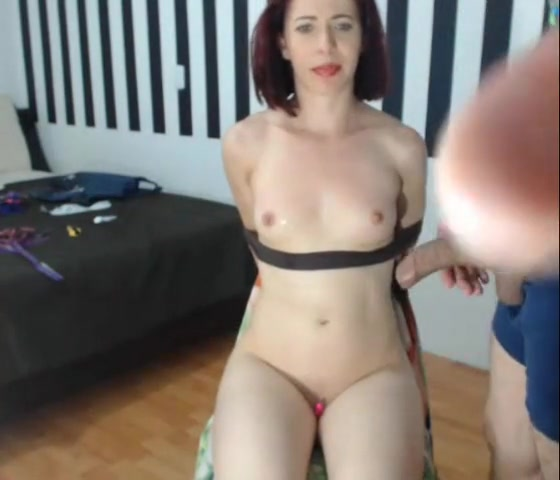 Monica Tied to a Chair - oral sex and domination