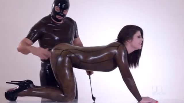 BDSM Threesome in latex