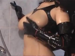 Pervy latex Action