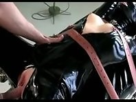 PVC Slavegirl in restraints taken
