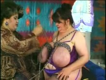 Bizarre Tit Torture - monstrous breasts Tied and Turning to purple