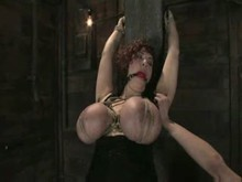 gigantic breasts tied and tortured by Mistress