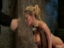 Nipple torture and Face Slapping for Charisma Capelli