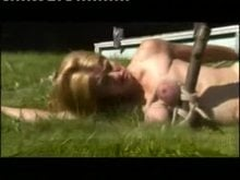 Hardcore Breast Bondage Outdoors