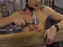 Tit Nailing to Board - Queensnake