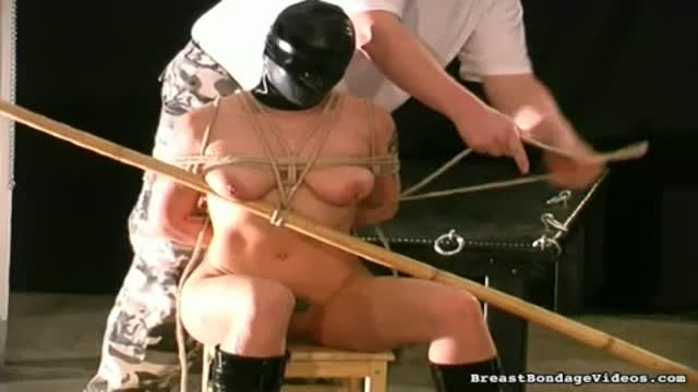 Breast bondage and tit torture foor Mel