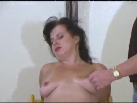 Two studs torturing slut's boobs
