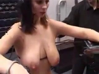 Heavy needle tit torture