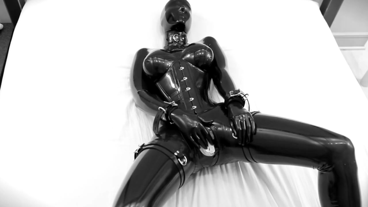 Rubber doll forced to spunk