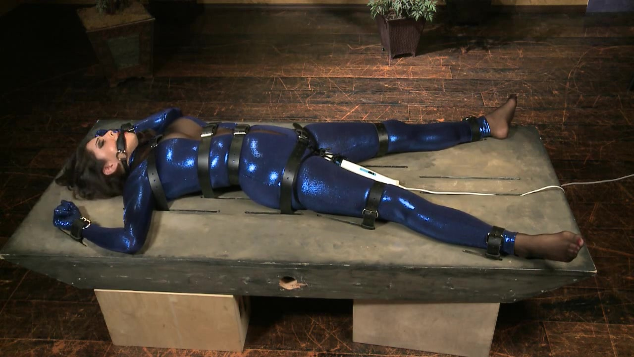 Restrained for cumming Torture