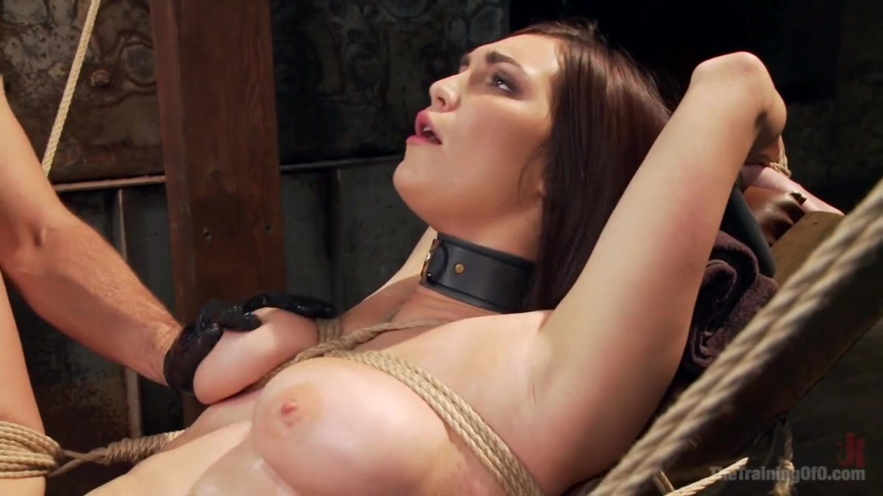 Holly Michaels forced to orgasm in ropes
