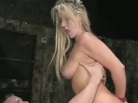 Bound and fucked blonde