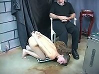 Young submissive trained in in the dungeon