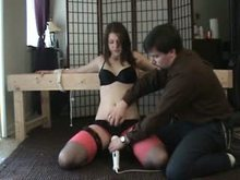Restrained and forced to cumming