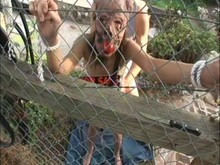 Outdoors Sexslave Training for Amber Rayne