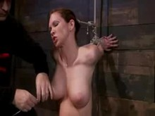 Throat Fucking and nipple torture in Extreme Bondage and Sybian