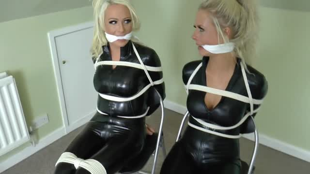Lucy and Brooke - Catsuit Bondage