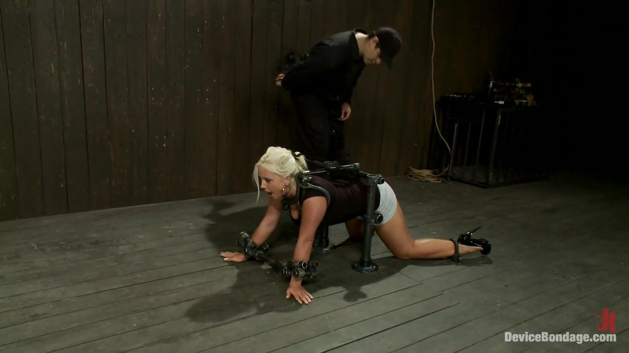 Kait Snow in Metal Bondage