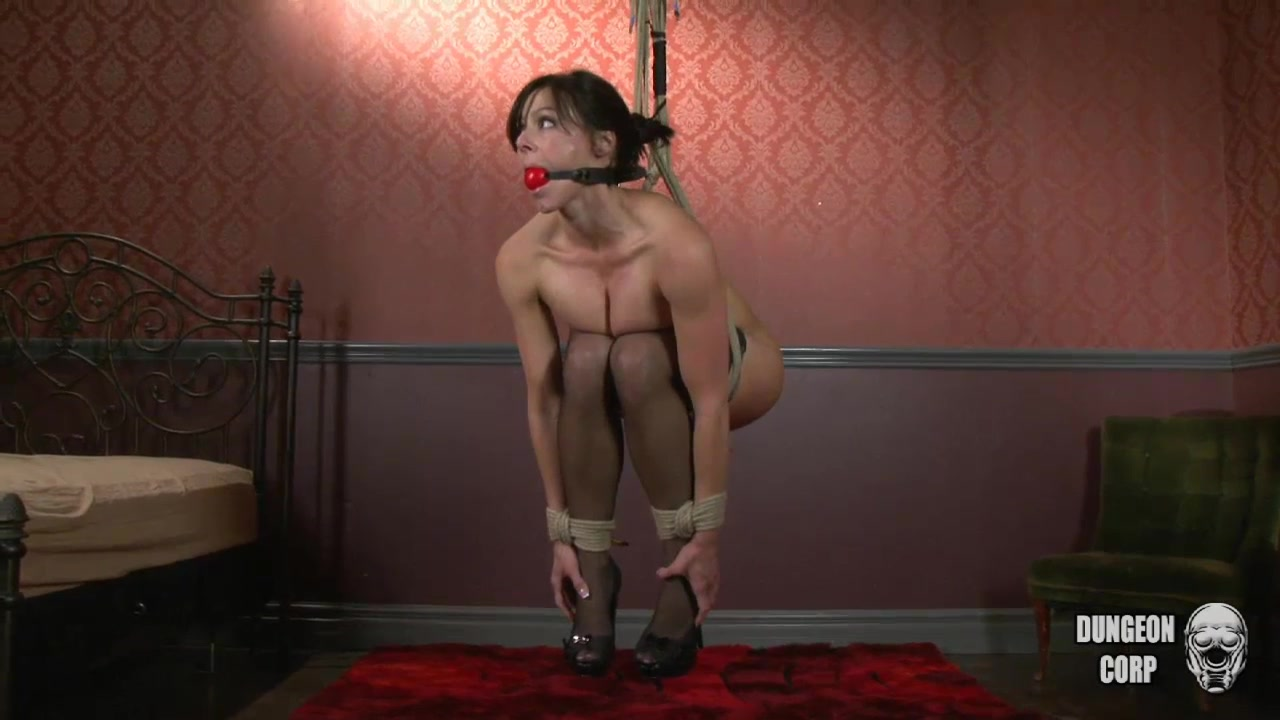 Kendra cumming tortured, whipped boned and forced to blow schlong in suspension