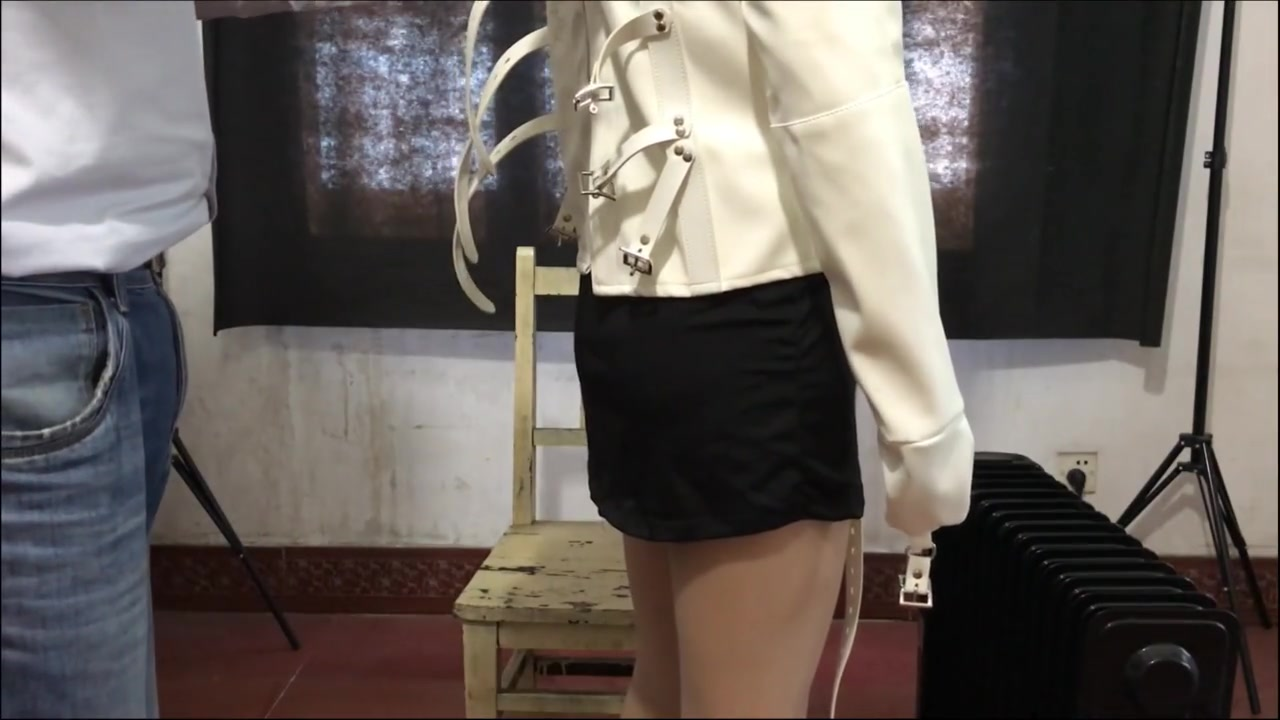 chinese BDSM with straitjacket