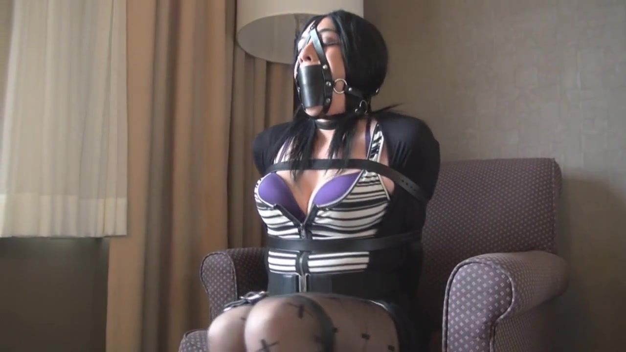 Panel Gagged and Strapped Up