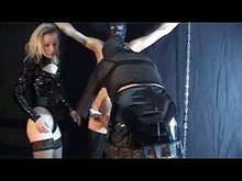Two German Mistresses humiliating and dominating their slave - German BDSM