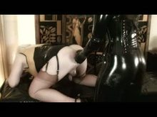 Dommes Fist their slave studs