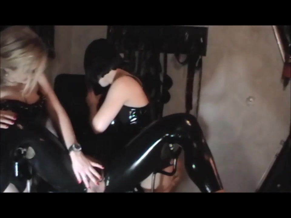 Three Dommes - One Male Slave