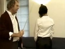 Caning - Sophia getting her ass bright red