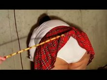 Hardcore Caning of School woman
