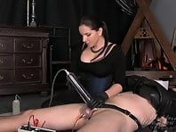 Extreme cock pumping and tens torture