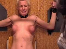 Hardcore BDSM German blondy Tortured