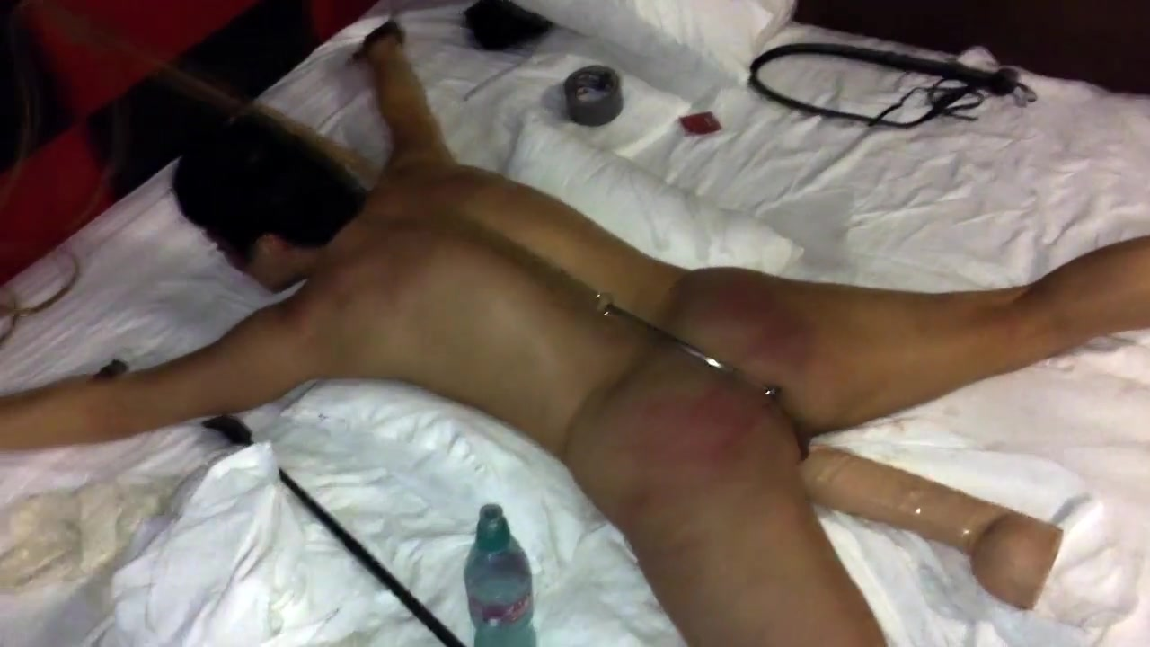 Anal hooked and spanked
