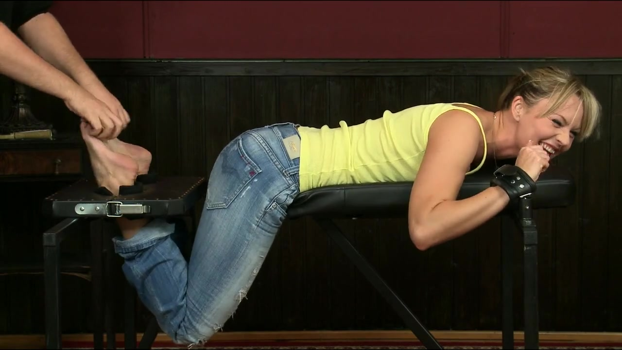 Sandra restrained for tickling