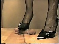 Cock and Ball Trampling with Stilettos