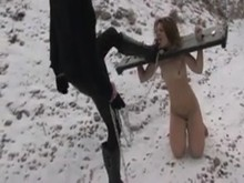 Outdoor Bondage in The Snow