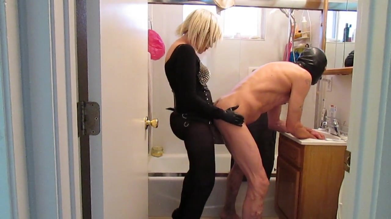 Pegged in the Bathroom