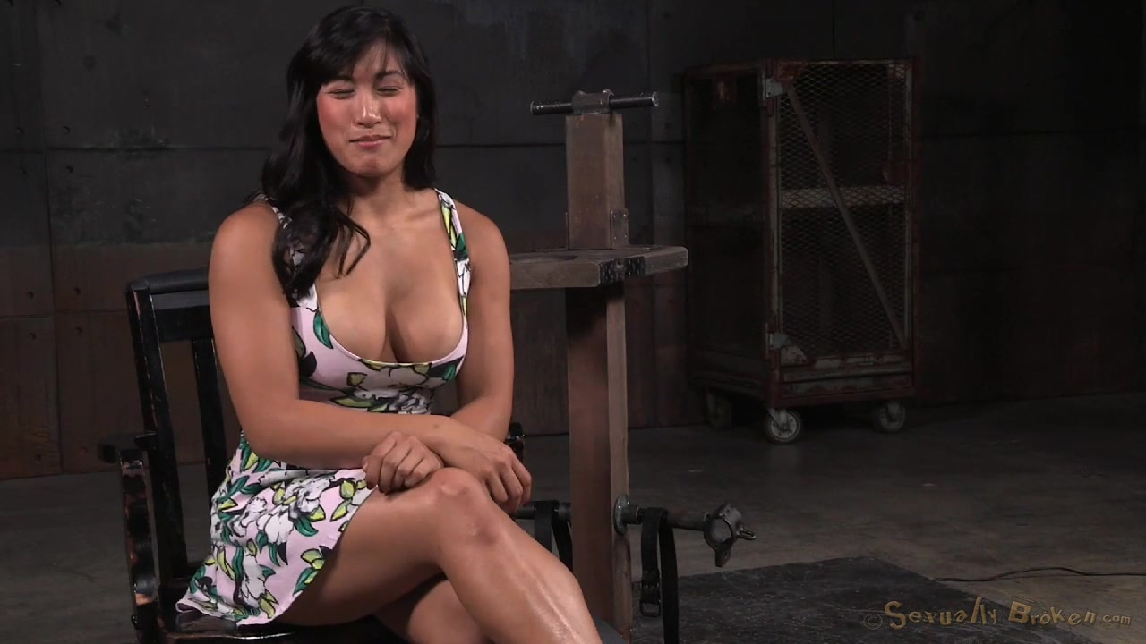 Mia Li - Throatfucked and Roughed in Restraints