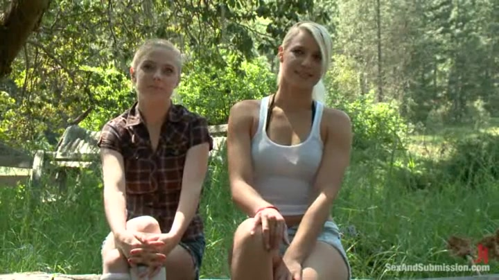 Penny Pax and Anikka Albrite in the woods