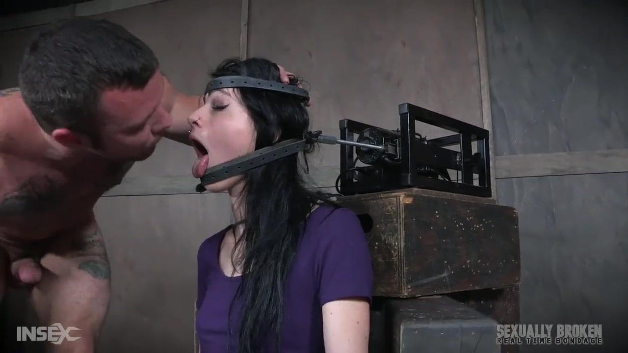 bondage throat fuck machine