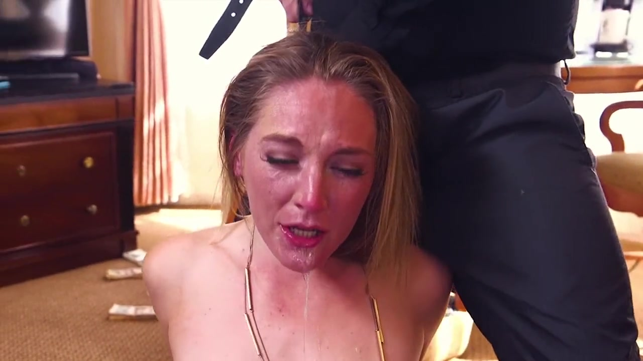 Mona Wales Gagging on cock